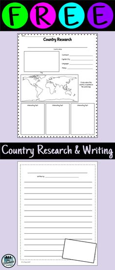 Country Report Research Pages FREE for a limited time!!   Social ...