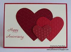 Yellowbear Stampin: Happy Anniversary card