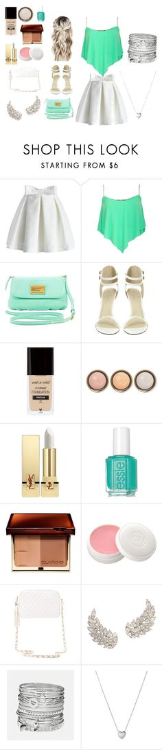 """""""Date Night💕"""" by fourth-fashion ❤ liked on Polyvore featuring Chicwish, Pilot, Marc by Marc Jacobs, By Terry, Yves Saint Laurent, Christian Dior, Charlotte Russe, Avenue and Links of London"""