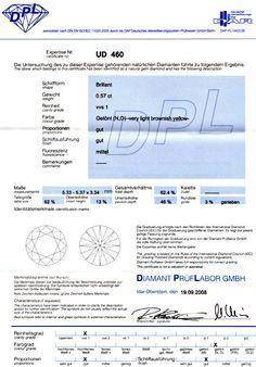 Foto 9, DIAMANT 0,57CARAT BRILLANT BRILLIANT DPL NO VVS1 JUWEL!, D5124