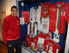 """Angel Di Maria paid a visit to the Manchester United Museum at Old Trafford to learn more about the legendary no.7 shirt he now wears and said: """"I hope one day to also be considered a hero for the fans, just like Best, Cantona, Beckham and Ronaldo."""""""
