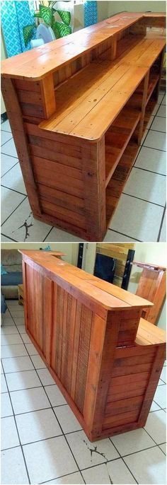 50 Wonderful DIY Pallet Furniture Ideas and Projects 2018 : The island bar