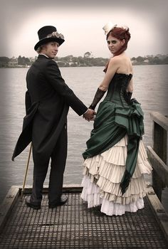 Steampunk wedding photoshoot - so much to love in here!
