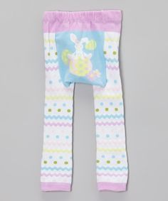 Knit for comfort, these playful leggings pair well under almost anything. Little ones can squiggle and wiggle with ease thanks to a roomy seat, ribbed cuffs and elastic waistband.  70% polyester / 30% spandexMachine wash; tumble dryImported
