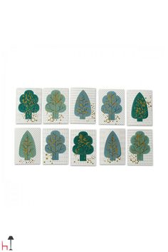 Forest is a mini fairy tale forest full of gold speckled pop-up trees.