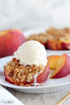 ... until juicy and bubbly. Serve warm topped with vanilla ice cream