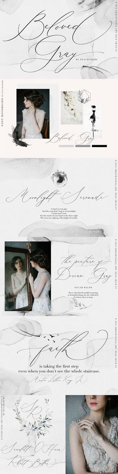 Beloved Gray -Fine Art Font by PeachCreme on @creativemarket