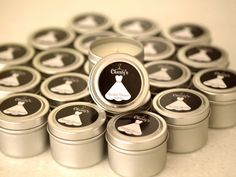 Bridal Shower or Wedding Gift Favor Candles by metalissa on Etsy, $1.00