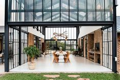 The Conservatory by Nadine Engelbrecht - Dwell Pretoria, Tiny House, Parque Industrial, Outside Patio, Ground Floor Plan, House And Home Magazine, Glass House, Concrete Floors, My Dream Home