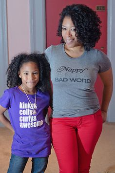 """Doing the same thing w/ my daughter. Pinner writes: """"Teaching her to love herself from top to bottom!!!!"""" #naturaltshirt"""