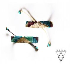 Colorful Bracelets, Blue Gold, Friendship Bracelets, Macrame, Colors, Happy, Instagram Posts, Summer, Jewelry