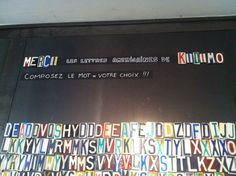 Les lettres américaines de Kidimo sont en exclusivité chez Merci 111 bd Beaumarchais à Paris ! Www.kidimo.com