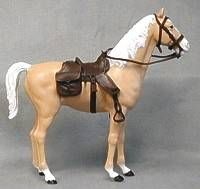 "Marx Toys' horse Thunderbolt, from the series of ""Wild West""-themed toys"