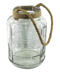 Look what I found on #zulily! Clear Rope-Handled Glass Jug #zulilyfinds