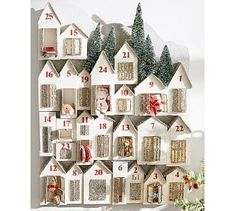 Glitter Lit Houses Advent Calendar #potterybarn