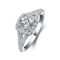 e8a54a923a65a Aooaz Ring for Weddings Silver Material Ring Round Promise Ring in ...