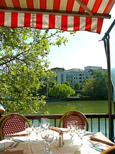 "The balcony overloooking the Seine where Renoir painted ""Luncheon of the Boating Party"""