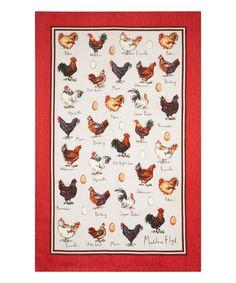 Loving this Floyd Chicken & Egg Linen Tea Towel on #zulily! #zulilyfinds