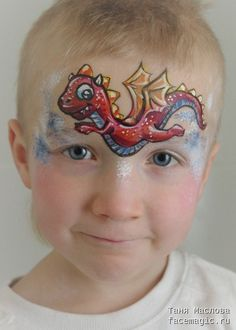 Little dragon. Face paint by Tanya Maslova.