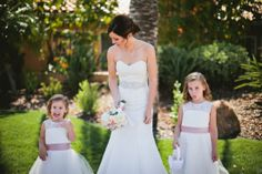 Flower Girl and Bride Pics. Funny Faces
