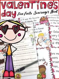 In whose honor was Valentine's Day celebrated? How many candy hearts are produced for Valentine's Day each year? Where is the oldest Valentine's Day card displayed? Your students will enjoy knowing all about these fun Valentine's Day facts with this 32 Scavenger Hunt pack. https://www.teacherspayteachers.com/Product/VALENTINES-DAY-2354247