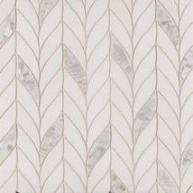 Benton Braid White Thassos/Shell. Stone mosaic #tile. Beautiful for a kitchen backsplash or bathroom floor.