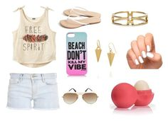 """Just Another Summer Day"" by fashion-is-the-passion-123 ❤ liked on Polyvore featuring Frame Denim, Scoop, Juicy Couture, Ray-Ban, Sole Society, Melinda Maria, Incoco and Eos"