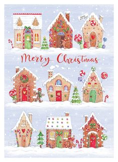 Leading Illustration & Publishing Agency based in London, New York & Marbella. Christmas Gingerbread, Christmas Love, Christmas Pictures, All Things Christmas, Winter Christmas, Vintage Christmas, Christmas Crafts, Merry Christmas, Christmas Decorations
