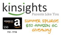 Southern Mom Loves: Win a $50 Amazon Gift Card from Kinsights! Ends 7/16