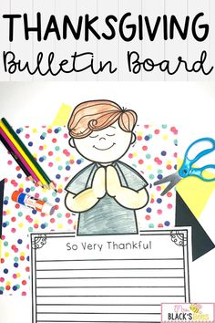 Are you looking for lessons, ideas, crafts or activities for discussing Thanksgiving topics? Will your class be brainstorming lists or composing writing about what he or she is most thankful for? This bulletin board set comes with 4 different kid toppers plus 20 different writing papers. Children will have so much fun coloring the topper, cutting, gluing and writing about what he or she is thankful for this holiday season and everyday. This craft makes an adorable display when finished. Thanksgiving Bulletin Boards, Thanksgiving Activities, Thanksgiving Holiday, Autumn Activities, Help Teaching, Teaching Reading, Teaching Resources, Kindergarten Crafts, Kindergarten Classroom