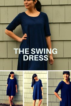 The Pattern Features:  FOUR different patterns including in this purchase:  DRESS: * A SWING DRESS WITH 3 SLEEVE LENGTH OPTIONS, SCOOP NECKLINE AND KNEE LENGTH. * OPTIONAL IN SEAM POCKETS  2. TOP:  * A SWING TOP WITH CAP SLEEVES * BELOW WAIST LENGTH * CREW NECKLINE  3. TUNIC:  * A SWING TUNIC WITH 3 SLEEVE LENGTH OPTIONS, CREW NECKLINE AND HIGH HIP LENGTH * OPTIONAL IN SEAM POCKETS  4. LEGGINGS:  *ANKLE LENGTH, 2 PIECE LEGGING WITH CURVED WAISTBAND    FABRIC RECOMMENDED:  RECOMMENDED FABRIC…