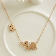 Cute Necklace for the Elephant Lover! This adorable little thing will not only look gorgeous on you, and it'll also express your love and passion for these noble creatures. Claim yours today, and get