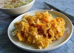 Krumplis tészta svábosan Hungarian Recipes, Hungarian Food, Macaroni And Cheese, Main Dishes, Cabbage, Bacon, Vegetables, Fruit, Cooking