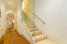 basement stairs Glass Wall Design Ideas, Pictures, Remodel, and Decor Attic Renovation, Attic Remodel, Basement Renovations, Attic Apartment, Attic Rooms, Attic Bathroom, Attic Playroom, Basement Bathroom, Apartment Therapy
