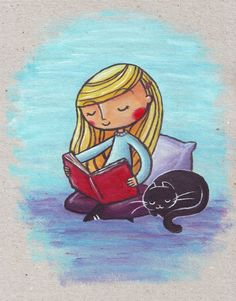 'Peaceful Reading' by Ine Spee on artflakes.com as poster or art print $16.63