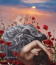 Le sommeil des fleurs - Maricka Swient @Bazaart