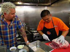 Elena's Filipino-style menu impresses Guy with its out-of-bounds variety. Fried Pork. Elena's Home of Finest Filipino Foods (Waipahu, on Oahu) | Guy Fieri's Diners, Drive-Ins and Dives, Food Network