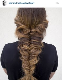 Easy update to three strand braiding   easybraid  mermaidbraid     style and hair image on We Heart It