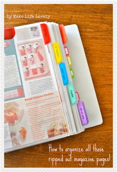 Organize-all-those-ripped-out-magazine-pages #quilting #sewing #crafts #diy