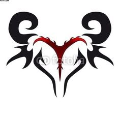 Red And Black Ink Tribal Aries Zodiac Head Tattoo Design : Aries Tattoos Aries Zodiac Tattoos, Aries Ram Tattoo, Bull Tattoos, Head Tattoos, Tatoos, Tribal Tattoos, Chaos Tattoo, Widder Tattoos, Small Dragon Tattoos