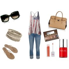 USA, created by meganbrooke16 on Polyvore....like the tank