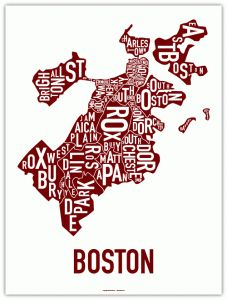Boston and it's hoods. Cool infographic.