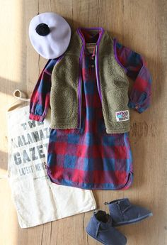 Refashion b's flannel dress- love the hem