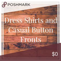 Men's and Women's Dress Shirts and Casual Button Fronts Other