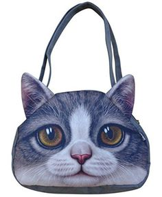Cute Cat Face Zipper Tote Shoulder Bags With links to many others.
