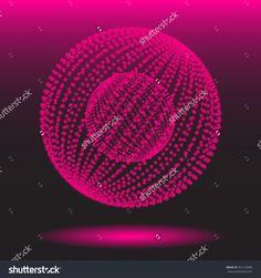 Luminous dotted globe  - vector illustration