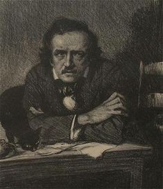 Drawing of sitting at desk