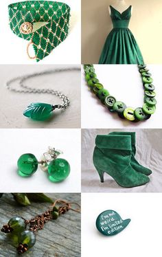 """""""Emerald Green -- Pantone Colour of the Year! by Tina on Etsy--Pinned with TreasuryPin.com"""