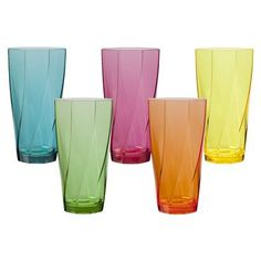 Acrylic Twist Tumbler Set of 10 - 24oz. (Assorted)