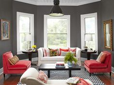 Don't be afraid of dark paint color, especially in a room with tons of natural light #hgtvmagazine http://www.hgtv.com/decorating-basics/creative-new-great-decorating-ideas/pictures/page-6.html?soc=pinterest#